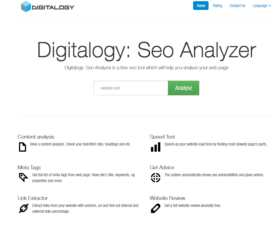 Analiza Domeniu Gratuit la Digitalogy | Free Domain Analyzer